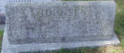 JOHNSON, HASLUND - Minnehaha County, South Dakota | HASLUND JOHNSON - South Dakota Gravestone Photos