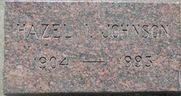 JOHNSON, HAZEL I. - Minnehaha County, South Dakota   HAZEL I. JOHNSON - South Dakota Gravestone Photos