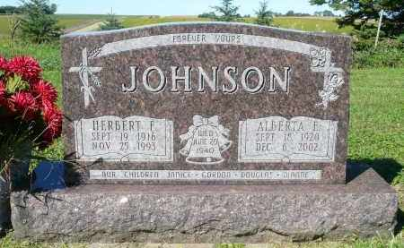 JOHNSON, ALBERTA E. - Minnehaha County, South Dakota | ALBERTA E. JOHNSON - South Dakota Gravestone Photos