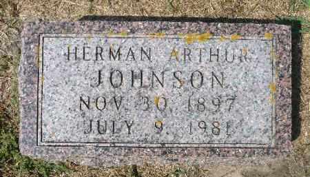 JOHNSON, HERMAN ARTHUR - Minnehaha County, South Dakota   HERMAN ARTHUR JOHNSON - South Dakota Gravestone Photos