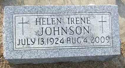 JOHNSON, HELEN IRENE - Minnehaha County, South Dakota | HELEN IRENE JOHNSON - South Dakota Gravestone Photos