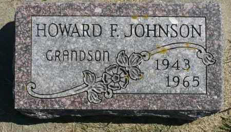 JOHNSON, HOWARD F. - Minnehaha County, South Dakota | HOWARD F. JOHNSON - South Dakota Gravestone Photos