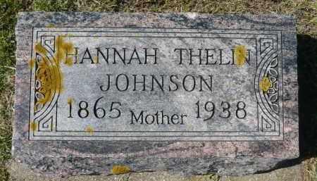JOHNSON, HANNAH THELIN - Minnehaha County, South Dakota | HANNAH THELIN JOHNSON - South Dakota Gravestone Photos