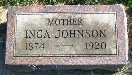 JOHNSON, INGA - Minnehaha County, South Dakota   INGA JOHNSON - South Dakota Gravestone Photos