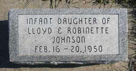 JOHNSON, INFANT DAUGHTER - Minnehaha County, South Dakota | INFANT DAUGHTER JOHNSON - South Dakota Gravestone Photos