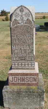 JOHNSON, MATILDA G. - Minnehaha County, South Dakota | MATILDA G. JOHNSON - South Dakota Gravestone Photos