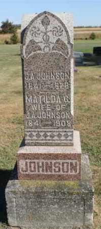 JOHNSON, J.A. - Minnehaha County, South Dakota | J.A. JOHNSON - South Dakota Gravestone Photos