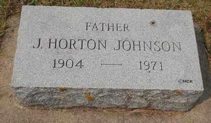 JOHNSON, J.HORTON - Minnehaha County, South Dakota | J.HORTON JOHNSON - South Dakota Gravestone Photos