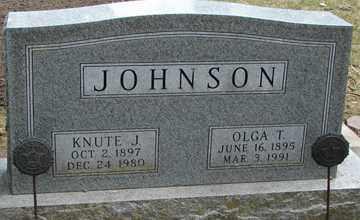JOHNSON, KNUTE J. - Minnehaha County, South Dakota | KNUTE J. JOHNSON - South Dakota Gravestone Photos