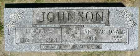 JOHNSON, IAN MCDONALD - Minnehaha County, South Dakota | IAN MCDONALD JOHNSON - South Dakota Gravestone Photos