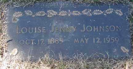 JOHNSON, LOUISE JENNY - Minnehaha County, South Dakota | LOUISE JENNY JOHNSON - South Dakota Gravestone Photos
