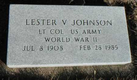 JOHNSON, LESTER VINCENT - Minnehaha County, South Dakota   LESTER VINCENT JOHNSON - South Dakota Gravestone Photos