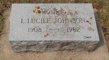 JOHNSON, LUCY LUCILE - Minnehaha County, South Dakota | LUCY LUCILE JOHNSON - South Dakota Gravestone Photos