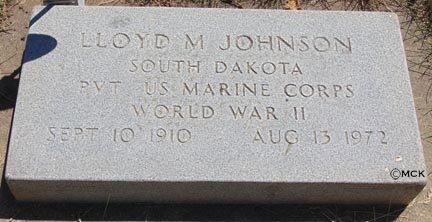 JOHNSON, LLOYD M. - Minnehaha County, South Dakota | LLOYD M. JOHNSON - South Dakota Gravestone Photos
