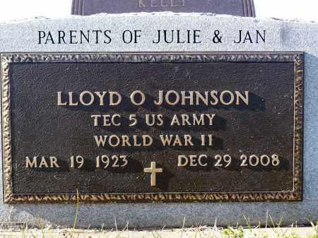 JOHNSON, LLOYD O. - Minnehaha County, South Dakota | LLOYD O. JOHNSON - South Dakota Gravestone Photos