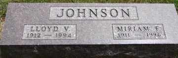 JOHNSON, LLOYD V. - Minnehaha County, South Dakota   LLOYD V. JOHNSON - South Dakota Gravestone Photos