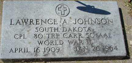 JOHNSON, LAWRENCE A. (WWII) - Minnehaha County, South Dakota | LAWRENCE A. (WWII) JOHNSON - South Dakota Gravestone Photos