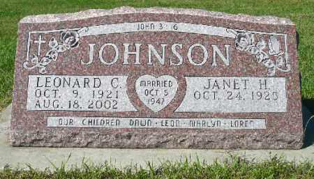 JOHNSON, LEONARD C. - Minnehaha County, South Dakota   LEONARD C. JOHNSON - South Dakota Gravestone Photos
