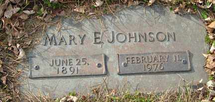 JOHNSON, MARY E. - Minnehaha County, South Dakota | MARY E. JOHNSON - South Dakota Gravestone Photos