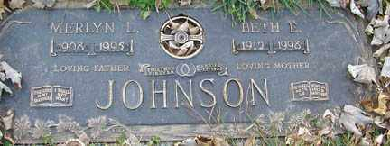 JOHNSON, MERLYN L. - Minnehaha County, South Dakota | MERLYN L. JOHNSON - South Dakota Gravestone Photos