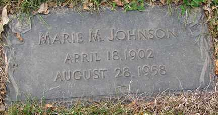 JOHNSON, MARIE M. - Minnehaha County, South Dakota   MARIE M. JOHNSON - South Dakota Gravestone Photos