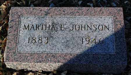 JOHNSON, MARTHA E. - Minnehaha County, South Dakota | MARTHA E. JOHNSON - South Dakota Gravestone Photos