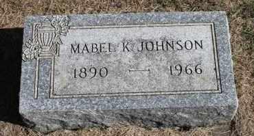 JOHNSON, MABEL K. - Minnehaha County, South Dakota   MABEL K. JOHNSON - South Dakota Gravestone Photos
