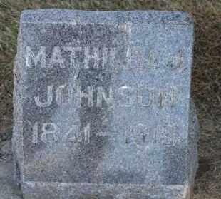 JOHNSON, MATHILDA J. - Minnehaha County, South Dakota | MATHILDA J. JOHNSON - South Dakota Gravestone Photos