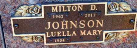 JOHNSON, MILTON D. - Minnehaha County, South Dakota   MILTON D. JOHNSON - South Dakota Gravestone Photos