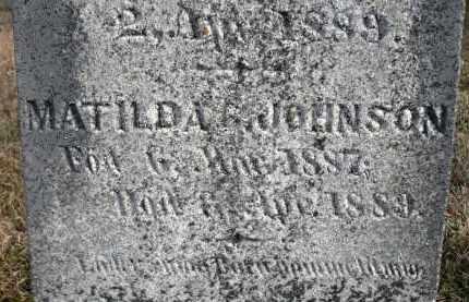 JOHNSON, MATILDA - Minnehaha County, South Dakota | MATILDA JOHNSON - South Dakota Gravestone Photos