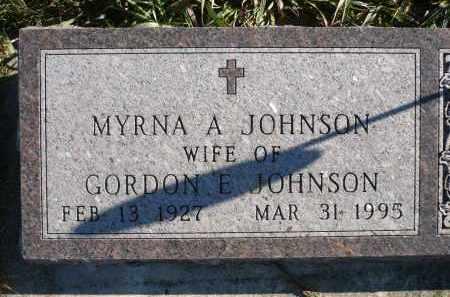 JOHNSON, MYRNA A. - Minnehaha County, South Dakota | MYRNA A. JOHNSON - South Dakota Gravestone Photos