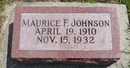 JOHNSON, MAURICE F. - Minnehaha County, South Dakota | MAURICE F. JOHNSON - South Dakota Gravestone Photos