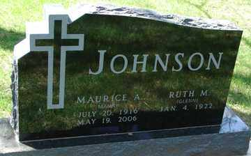 JOHNSON, MAURICE A. - Minnehaha County, South Dakota | MAURICE A. JOHNSON - South Dakota Gravestone Photos