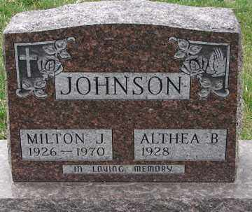JOHNSON, ALTHEA B. - Minnehaha County, South Dakota | ALTHEA B. JOHNSON - South Dakota Gravestone Photos