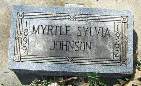JOHNSON, MYRTLE SYLVIA - Minnehaha County, South Dakota | MYRTLE SYLVIA JOHNSON - South Dakota Gravestone Photos