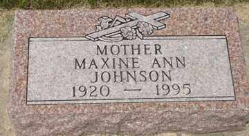 JOHNSON, MAXINE ANN - Minnehaha County, South Dakota | MAXINE ANN JOHNSON - South Dakota Gravestone Photos