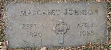 JOHNSON, MARGARET - Minnehaha County, South Dakota | MARGARET JOHNSON - South Dakota Gravestone Photos
