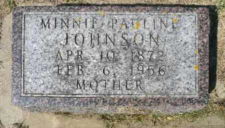 JOHNSON, MINNIE PAULINE - Minnehaha County, South Dakota | MINNIE PAULINE JOHNSON - South Dakota Gravestone Photos