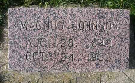 JOHNSON, MAGNUS - Minnehaha County, South Dakota | MAGNUS JOHNSON - South Dakota Gravestone Photos
