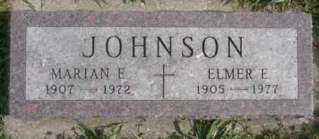 JOHNSON, MARIAN E. - Minnehaha County, South Dakota | MARIAN E. JOHNSON - South Dakota Gravestone Photos