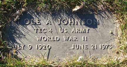 JOHNSON, OLE A. - Minnehaha County, South Dakota   OLE A. JOHNSON - South Dakota Gravestone Photos