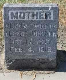JOHNSON, OLIVIA - Minnehaha County, South Dakota | OLIVIA JOHNSON - South Dakota Gravestone Photos