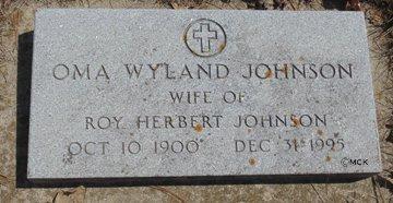 JOHNSON, OMA - Minnehaha County, South Dakota | OMA JOHNSON - South Dakota Gravestone Photos