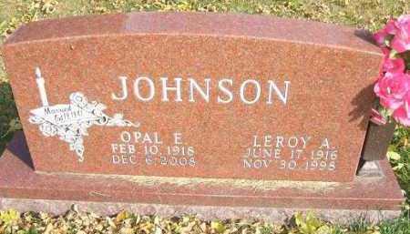 JOHNSON, OPAL E. - Minnehaha County, South Dakota | OPAL E. JOHNSON - South Dakota Gravestone Photos