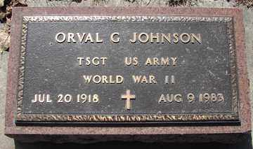 JOHNSON, ORVAL G. (WWII) - Minnehaha County, South Dakota | ORVAL G. (WWII) JOHNSON - South Dakota Gravestone Photos