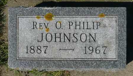 JOHNSON, O. PHILIP REV. - Minnehaha County, South Dakota | O. PHILIP REV. JOHNSON - South Dakota Gravestone Photos