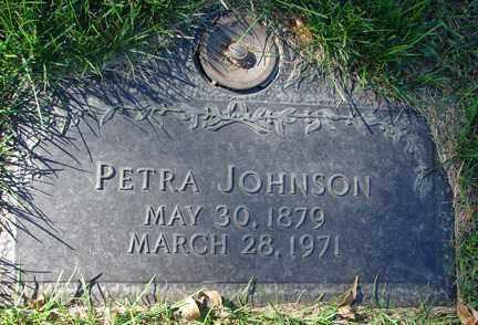 JOHNSON, PETRA - Minnehaha County, South Dakota | PETRA JOHNSON - South Dakota Gravestone Photos