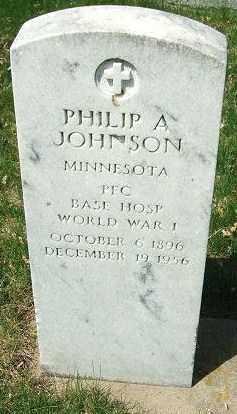 JOHNSON, PHILIP A. - Minnehaha County, South Dakota   PHILIP A. JOHNSON - South Dakota Gravestone Photos