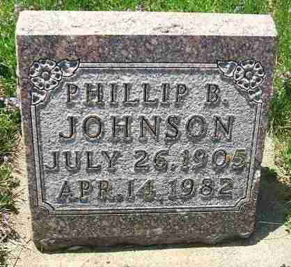 JOHNSON, PHILLIP B. - Minnehaha County, South Dakota | PHILLIP B. JOHNSON - South Dakota Gravestone Photos