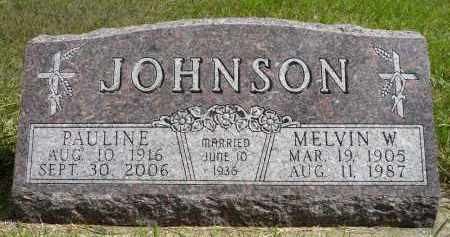 JOHNSON, MELVIN W. - Minnehaha County, South Dakota | MELVIN W. JOHNSON - South Dakota Gravestone Photos